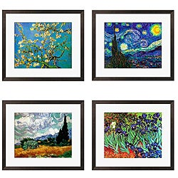 Van Gough 'Almond Blossom' 4-piece Framed Art Set