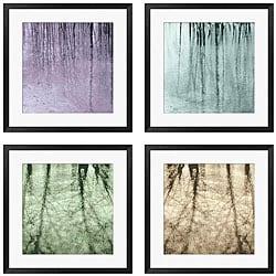 Sara Abbott 'Natural Expression' 4-piece Framed Art Set