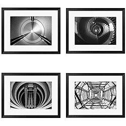 Michael Joseph 'Circular Series I-IV' 4-piece Framed Art Set
