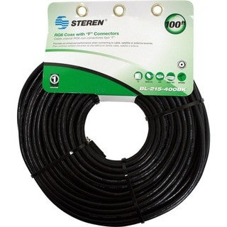 Steren BL-215-400BK Coaxial Patch Cable