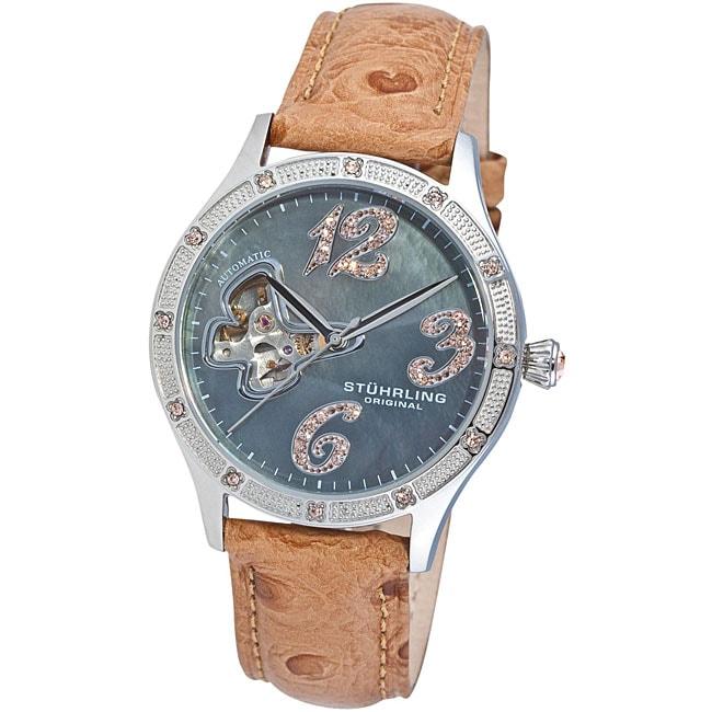 Stuhrling Original Women's Audrey Austrian Crystal Automatic Watch