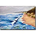 Michelle Calkins 'Lake Michigan Beach with Whitecaps I' Art