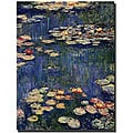 Claude Monet 'Water Lilies' Gallery-wrapped Canvas Art