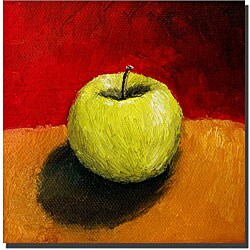 Michelle Calkins 'Granny Smith with Gold and Red' Art