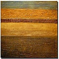 Michelle Calkins 'Earth Layers Abstract I' Canvas Art