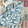 Handmade Alexa Pino Tribal Damask Rug (5&#39; x 8&#39;)