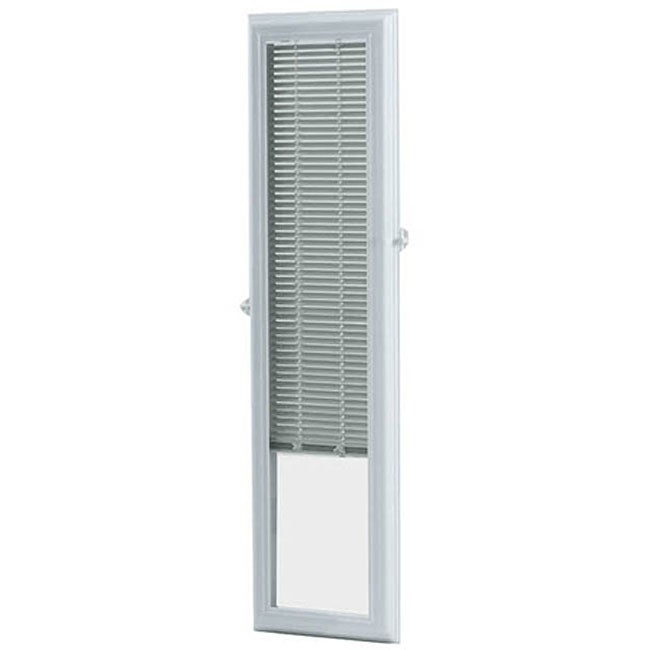 ODL Enclosed Door 8x36 inch White Sidelights With Blinds