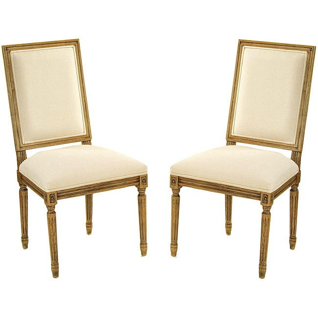 Safavieh Antiqued Oak Cream Side Chairs (Set of 2)