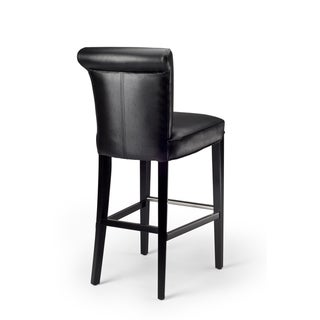 Manhattan Black Leather Bar Stool