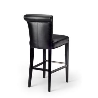 Manhattan Black Leather Bar Stool