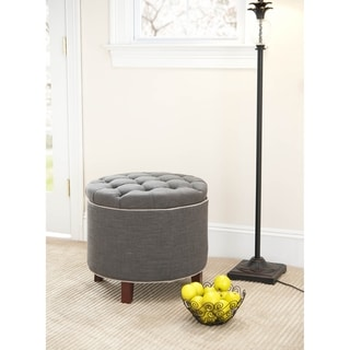 Safavieh Reims Grey Storage Ottoman
