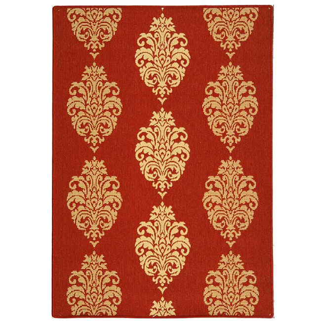 Safavieh Indoor/ Outdoor St. Martin Red/ Natural Rug (4' x 5'7)