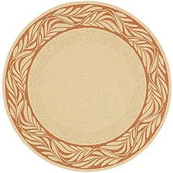 Safavieh Indoor/ Outdoor Tranquil Natural/ Terracotta Rug (5'3 Round)