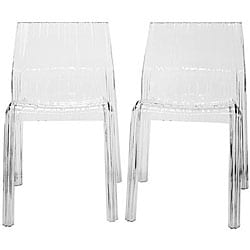Dolly Clear Acrylic Chairs (Set of 2)