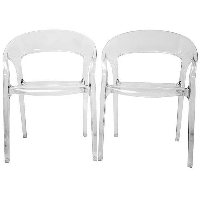 Honour Clear Acrylic Arm Chairs (Set of 2)