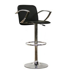 Carmen Black Faux Leather Bar Stool