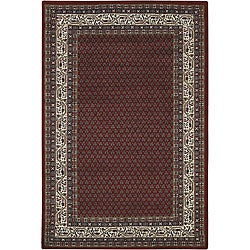 Hand-knotted Mandara Blue Wool Area Rug (7'9 x 10'6)