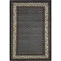 Hand-Knotted Blue Bordered Mandara Wool Rug (7'9 x 10'6)