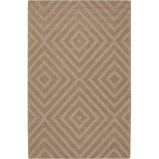 Hand-tufted Jaira Tan Wool Rug (7' x 10')