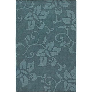 Hand-Tufted Mandara Blue Wool Area Rug (7' x 10')