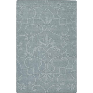 Hand-tufted Mandara Blue Wool Rug (7' x 10')