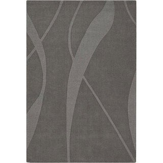 Hand-tufted Mandara  Grey Wool Rug (7' x 10')