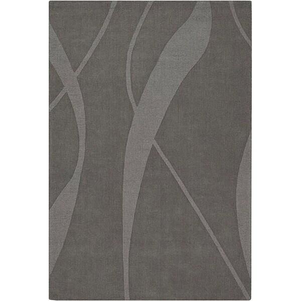Hand-tufted Mandara Grey Wool Rug (7' x 10')