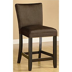 Empire Microfiber Chocolate Counter Stools (Set of 2)