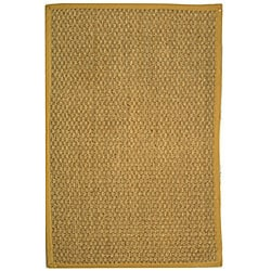 Handwoven Sisal Natural/Beige Seagrass Bordered Rug (5' x 8')