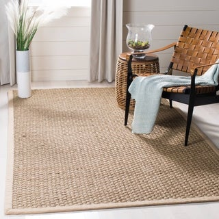 Safavieh Handwoven Sisal Natural/Beige Seagrass Bordered Rug (5' x 8')