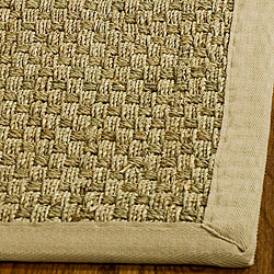 Hand-Woven Sisal Natural/Beige Seagrass Area Rug (6' Square)
