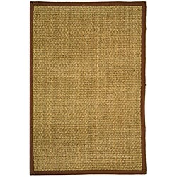 Safavieh Hand-woven Sisal Natural/ Brown Seagrass Rug (5' x 8')