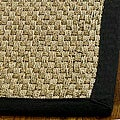 Casual Handwoven Sisal Natural/Black Seagrass Rug (5' x 8')