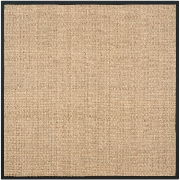 Safavieh Casual Hand-woven Sisal Natural/ Black Seagrass Rug (6' Square)