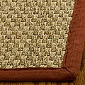 Hand-woven Sisal Natural/ Red Seagrass Runner (2'6 x 14')