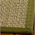 Safavieh Handwoven Sisal Natural/Olive/Seagrass Runner Rug (2'6 x 16')