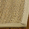 Hand-woven Sisal Natural/ Beige Seagrass Runner (2'6 x 16')