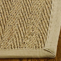 Hand-woven Sisal Natural/ Beige Seagrass Runner (2'6 x 4')