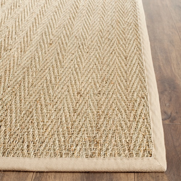 Safavieh Hand-woven Sisal Natural/ Beige Seagrass Runner (2'6 x 4')