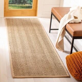 Safavieh Hand-woven Sisal Natural/ Beige Seagrass Runner (2'6 x 6')