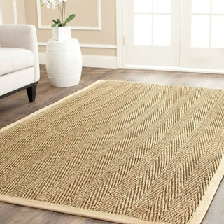 Hand-woven Sisal Natural/ Beige Seagrass Rug (6' Square)