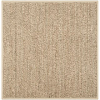 Safavieh Hand-woven Sisal Natural/ Beige Seagrass Rug (6' Square)