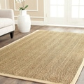 Casual Handwoven Sisal Natural/ Beige Seagrass Area Rug (8' Square)