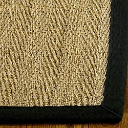 Hand-woven Sisal Natural/ Black Seagrass Rug (5' x 8')