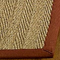 Handwoven Sisal Natural/ Red Seagrass Area Rug (6' Square)