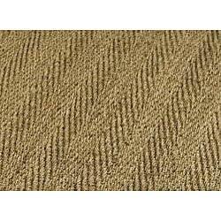 Safavieh Herringbone Natural Fiber Natural and Olive Border Seagrass Runner (2'6 x 16')