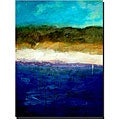 Michelle Calkins 'Abstract Dunes' Gallery-wrapped Canvas Art