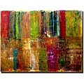 Michelle Calkins 'Color Panel Abstract' Gallery-wrapped Canvas Art