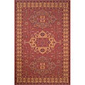 Medallion Red Outdoor Rug (3'3 x 4'11)