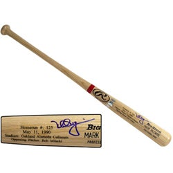 Mark McGwire Rawlings Signed Game Model Bat